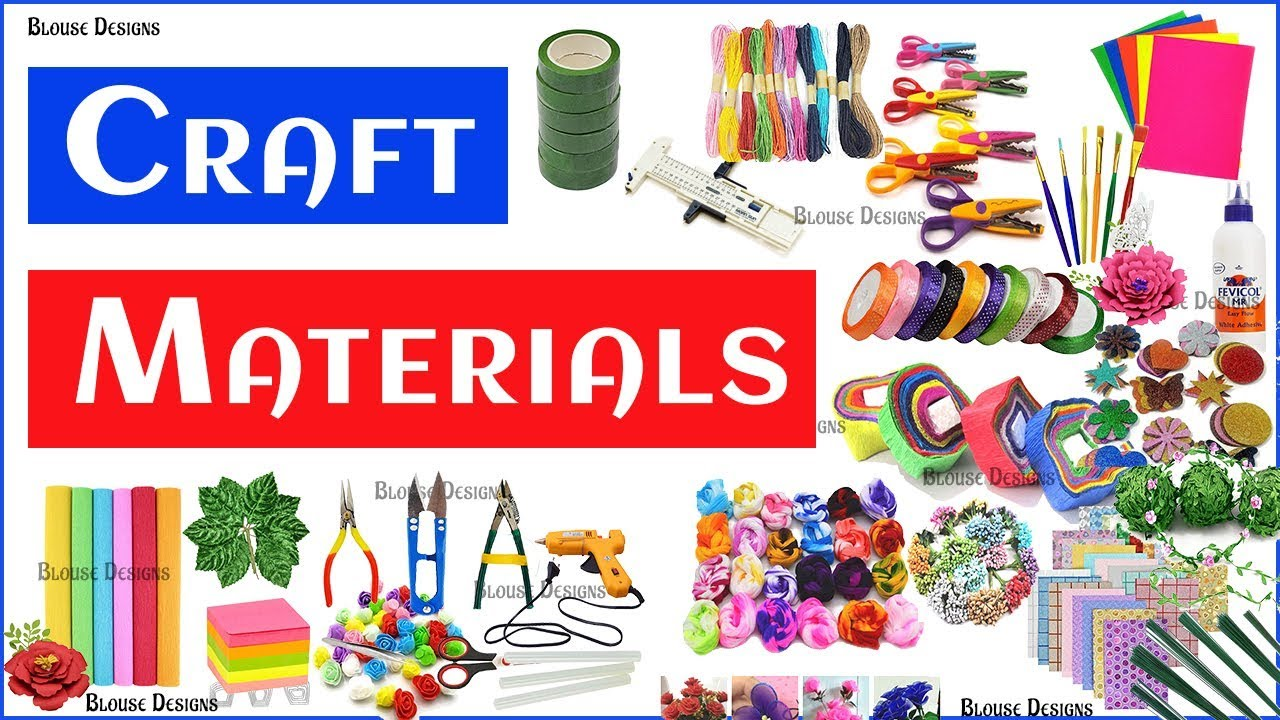 Craft Materials Craft Stationery Items Art Craft Material Craft Materials List Youtube