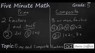 5th Grade Math Identifying Prime and Composite Numbers