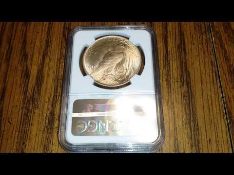 1923 Silver Morgan Dollar NGC Wyatt Earp Label