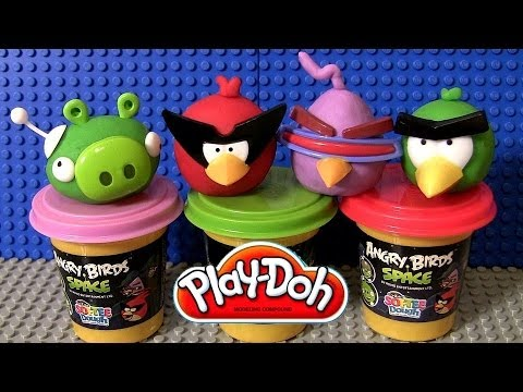 Play doh angry birds space softee dough 3d character maker playset play doh angry birds space softee dough 3d character maker playset bad piggies red bird toy review voltagebd Images