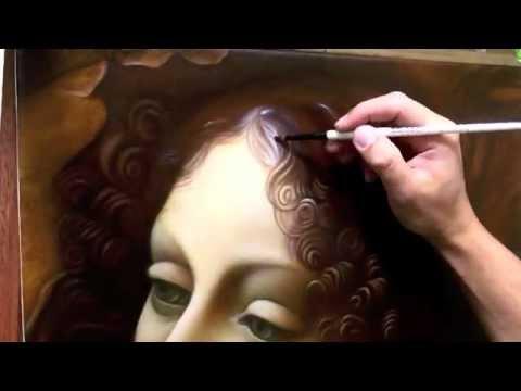 Leonardo Da Vinci Artwork by Fernando Olea Painting Glazing Details