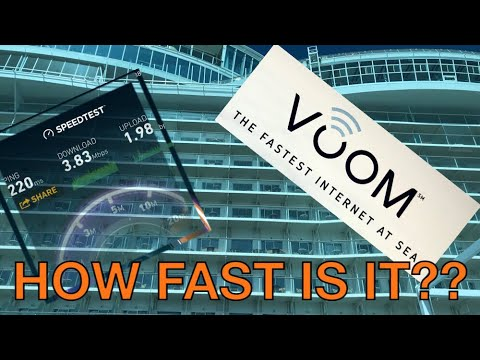 Voom Internet Review - October 2017 - Royal Caribbean Oasis Ship