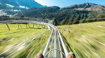 Längste downhill Rodelbahn der Schweiz in Churwalden Pradaschier