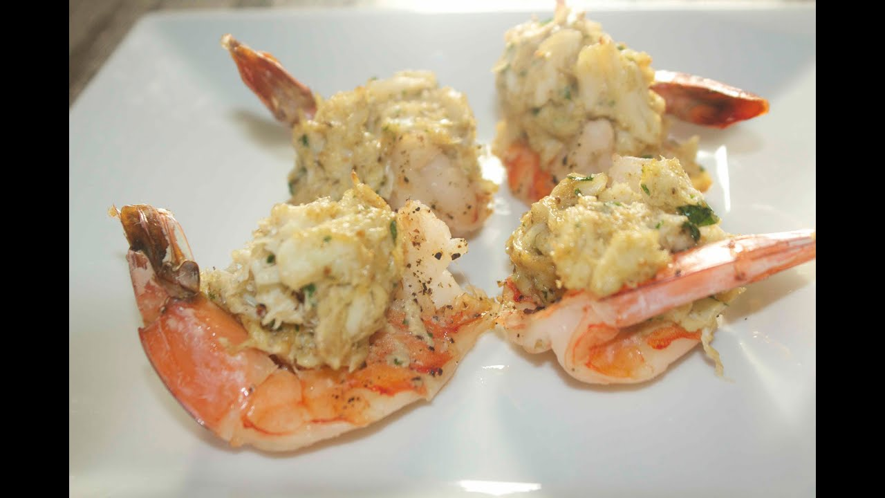 Crab Stuffed Shrimp Recipe Video Cooked By Julie