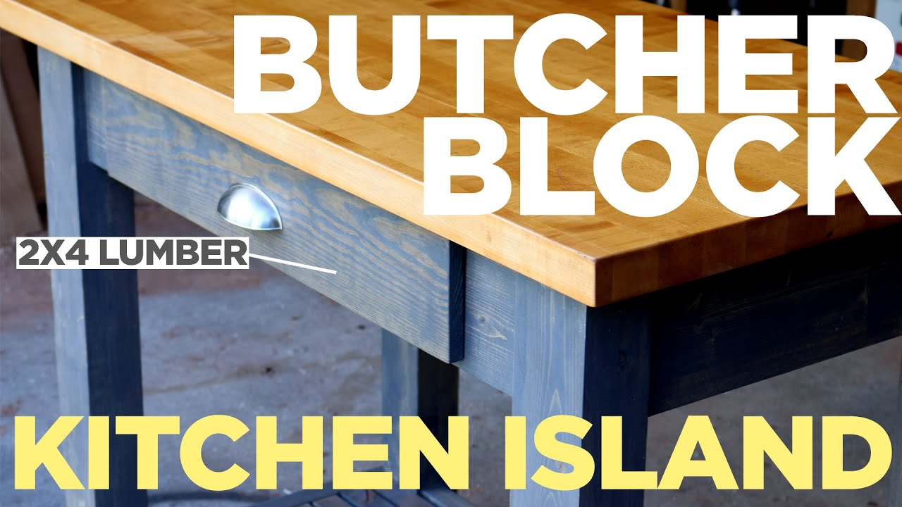 mike makes a butcher block kitchen island youtube