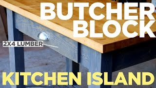 Mike Makes A Butcher Block Kitchen Island