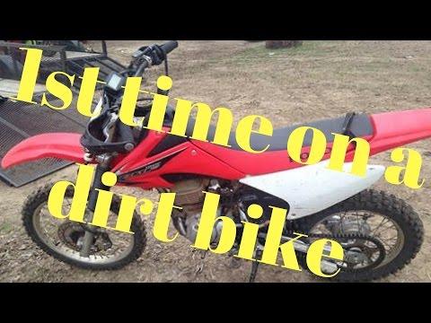 On real dirt bike