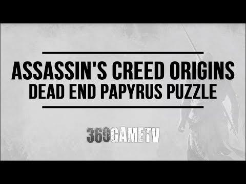 Assassins Creed Origins Dead End Papyrus Puzzle - How to solve Kanopos Nome Papyrus Puzzle