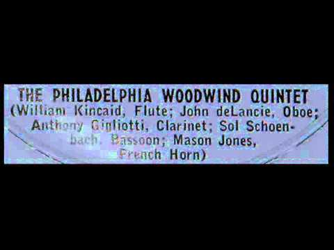 Haydn / Philadelphia Woodwind Quintet, 1956: Divertimento No. 1 in B flat major