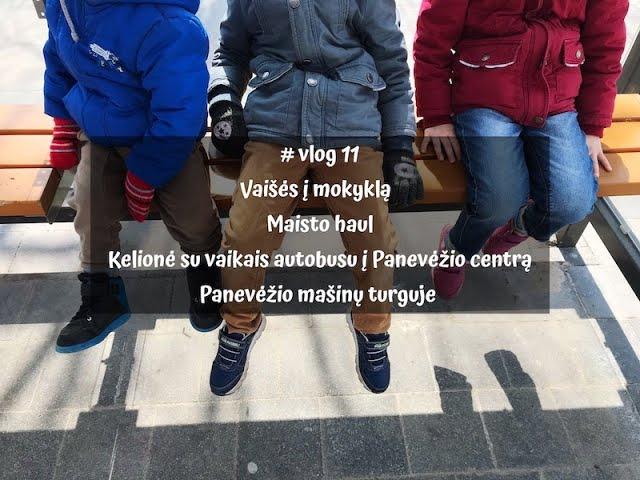 # vlog 11 - Vaišės į mokyklą / Maisto haul /Ką veikėme Panevėžyje / Vegan Pipiras
