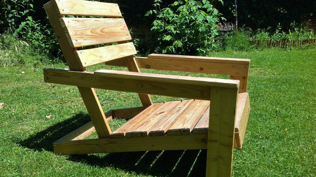 DIY Easy homemade garden chairs from pallets YouTube