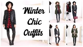 5 CHIC WINTER OUTFITS   xteeener