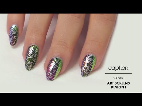 Caption Nail Polish Art Screens Design 1 Youtube