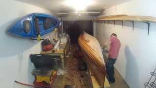 Cedar strip canoe time lapse