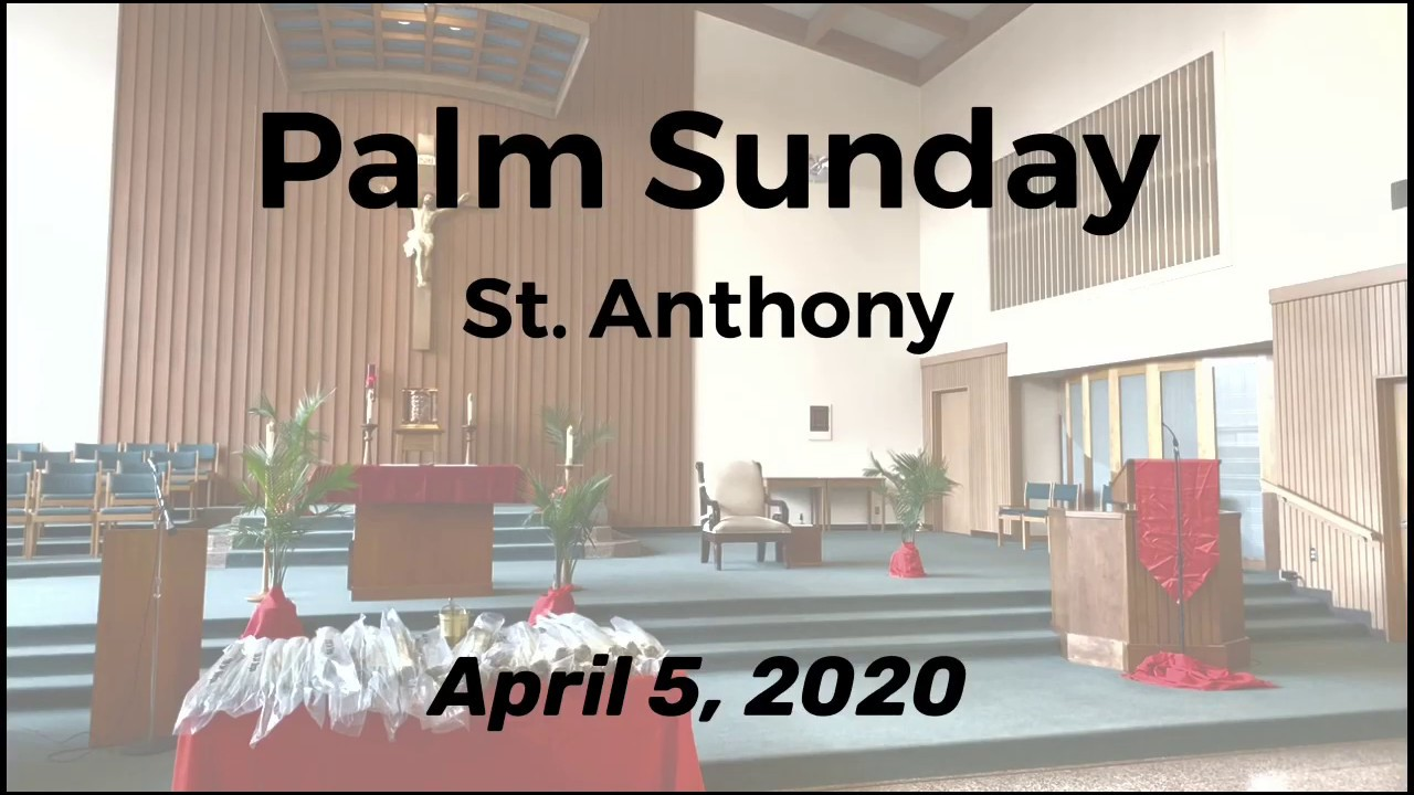 Palm Sunday of the Lord' Passion Mass_April 5, 2020