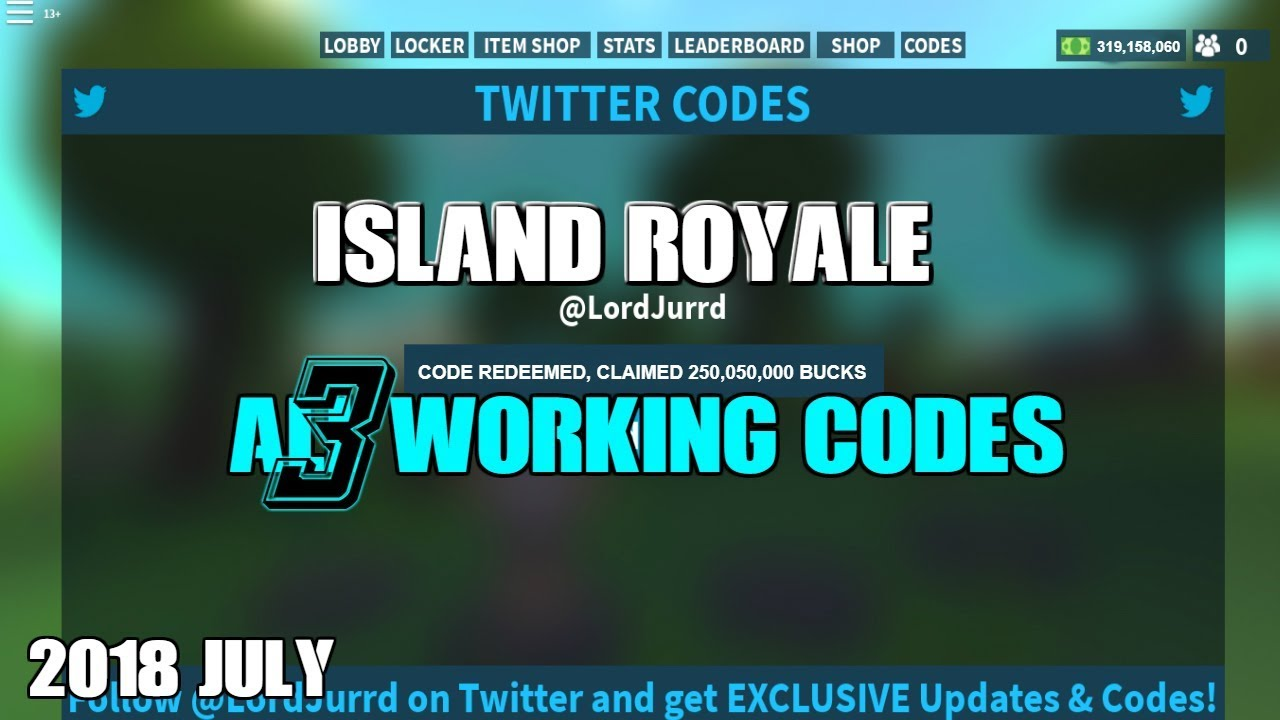 Expired Roblox Island Royale All 3 Working Codes Youtube