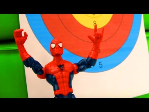 Best funny videos. Funny clown & amazing spiderman. Crazy clown, toy guns & superhero toy spiderman