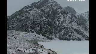 Scenery of Tianchi Lake after snow| CCTV English