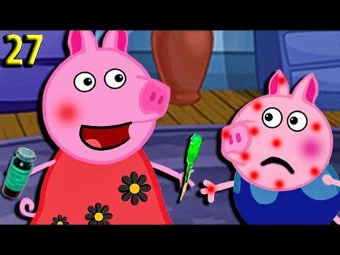 Мультики Свинка Пеппа Новые серии Джордж заболел ветрянкой Мультфильмы для детей на русском