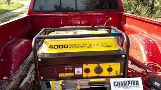 Champion 3500 watt Generator review.  Affordable emergency power!!