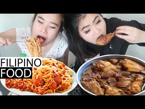 ADOBO CHICKEN | FILIPINO SPAGHETTI | MUKBANG | EATING SHOW