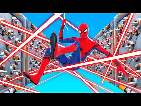 Playing Fortnite as SPIDERMAN! (Impossible Deathrun)