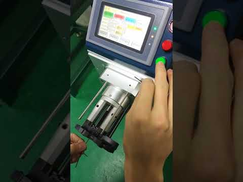 Programmable Rotary Coaxial cable stripping machine/3 layers Coax cable Thin Coaxial wire stripper