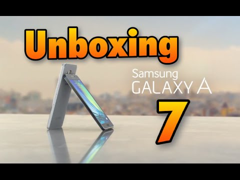 Samsung Galaxy A7 unboxing en español