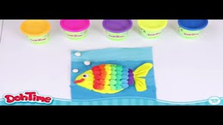 DohTime How to Make Rainbow fish with Clay | كيف اصنع سمكة قوس قزح  بالمعجون