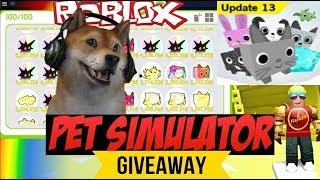 Roblox Pet Simulator update 13 - Dark Matter Giveaway