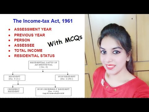 Income tax Basics || RESIDENTIAL STATUS with MCQs | Commerce | in Hindi | CBSE UGC NET