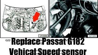Як замінити Фольксваген Пассат 1.8 Т G182 датчик/датчик швидкості автотранспорту
