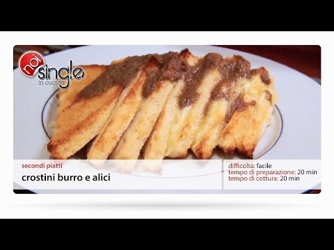 Crostini burro e alici