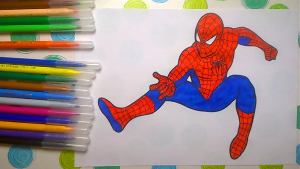 людина павук спайдермен розмальовки раскраски человек паук Coloring Pages Spider Man