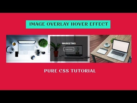 Image overlay Hover effect using html and css
