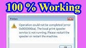 How To Fix Print Spooler Service is Not Running error on