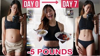 HOW I LOST 5 LBS IN ONE WEEK: WHAT I EAT IN A DAY TO LOSE WEIGHT | Healthy Food Diary