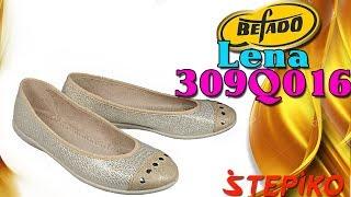 Женские текстильные балетки Befado Lena 309Q016. Видео обзор от WWW.STEPIKO.COM