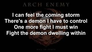 A Fight I Must Win ARCHENEMY Lyrics 2017