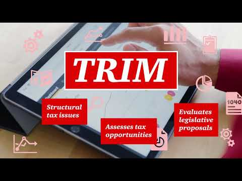 PwC's Tax Restructuring Impact Model (TRIM): Tax planning and strategy tool