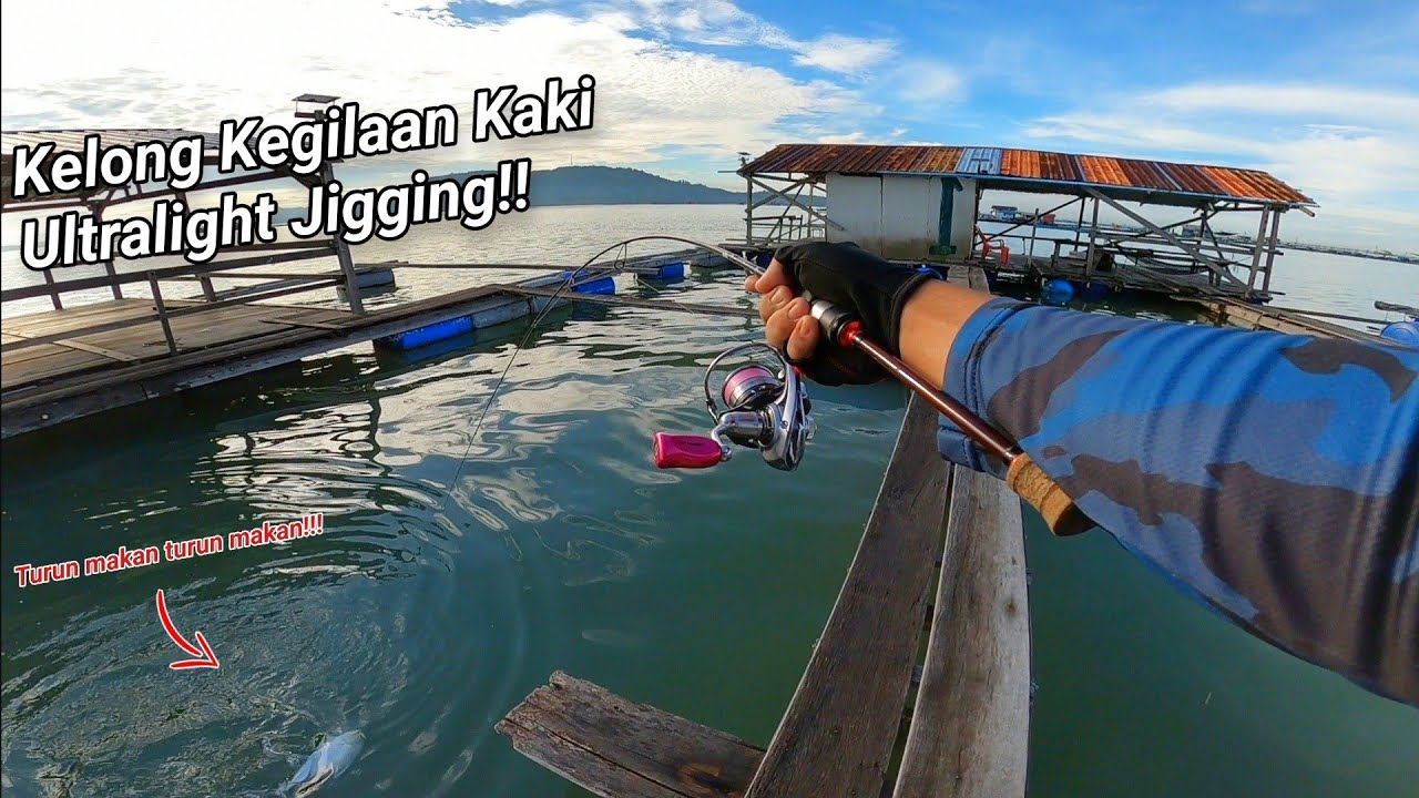 Pesta Strike Bertubi Tubi Ultralight Jigging di Kelong Ali Pulau Aman!! ( Kelong Ali Day 1 )