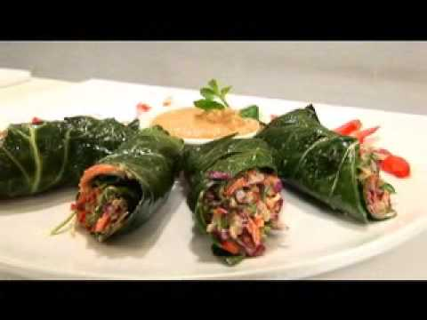 Spicy Thai Wraps at Loving Hut Hippy Gourmet Style!
