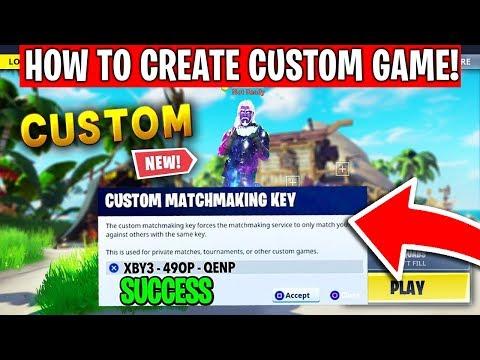 How To Create Your Own Fortnite Custom Games RIGHT NOW! - Fortnite Custom Machmaking Key