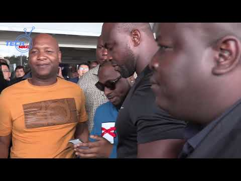 Davido Arrives In Zimbabwe, Airport interview and convoy