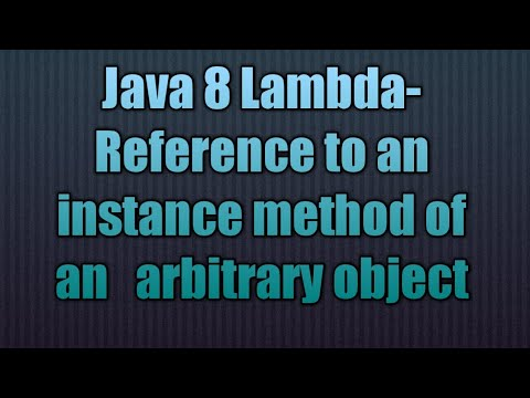 Java 8 Lambda-Reference to an instance method of an   arbitrary object