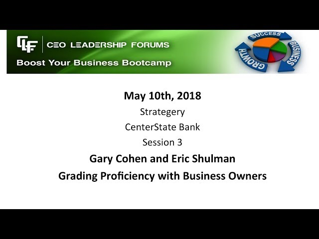 2018 05 10 CEO Leadership Session 03 Shulman & Cohen