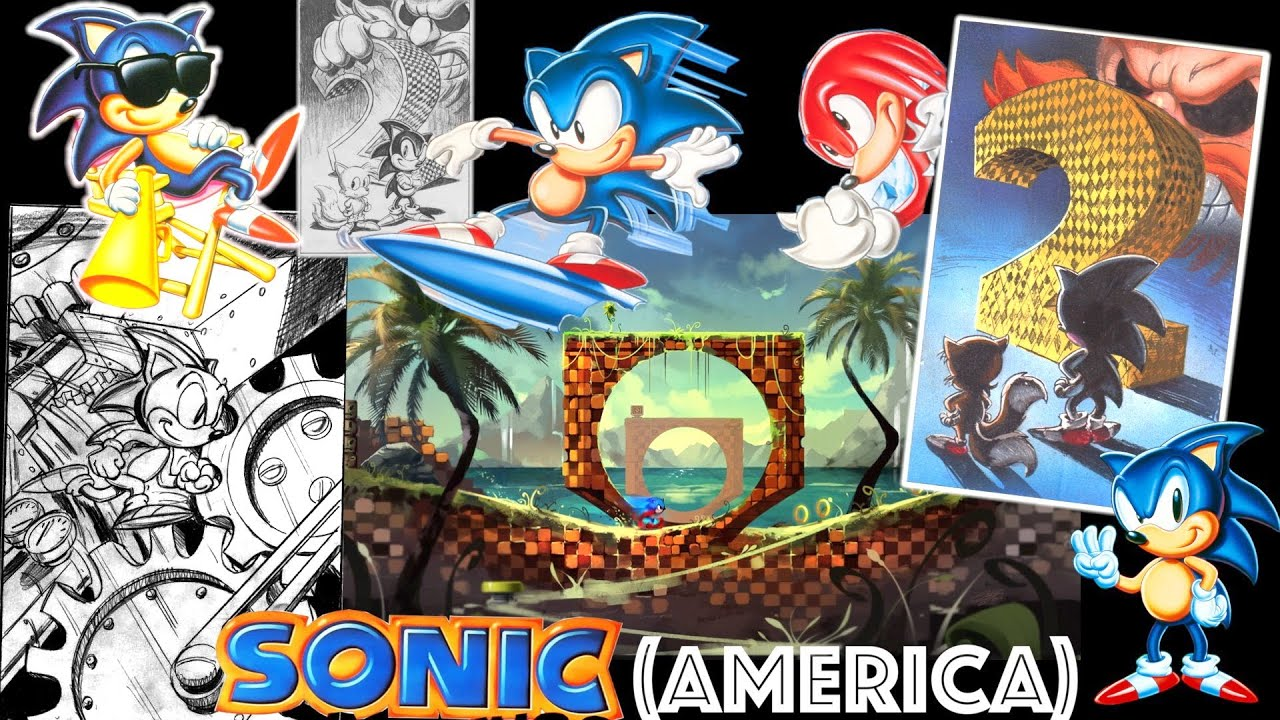 Sonic The Hedgehog Art History Sega Genesis Era Greg Martin Tribute Youtube