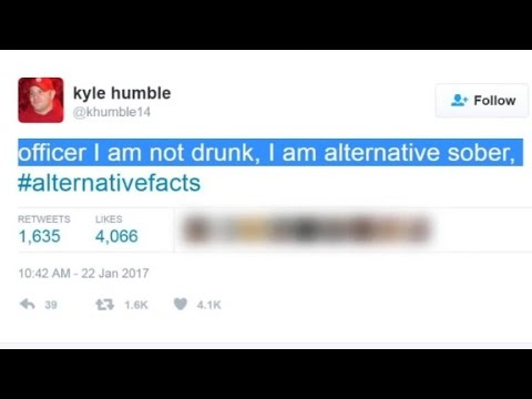 Watch to See the Internet Mocks Trump Team's  'Alternative Facts'!  Funny!