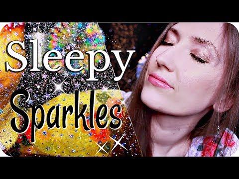 ASMR Sleepy Sparkles 💎 Head Massage, Hair Brushing, Tweezers, Makeup Pearls, Scratchy Sponge +