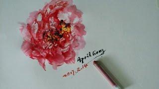 crayon and acrylic demonstrate 蠟筆和塑膠彩(丙烯顏料)示範